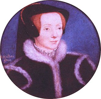 Katherine Brandon, Duchess of Suffolk - Miniature of Catherine Willoughby by Hans Holbein, the Younger