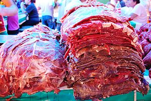 Cecina (meat) - Cecina in Mexico