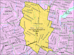 Census Bureau map of Paramus, New Jersey