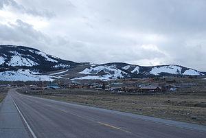 Centennial, Wyoming - Wyoming 130 facing Centennial.