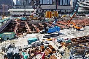 Central-Wan Chai Bypass Wan Chai Section under construction in April 2017.jpg