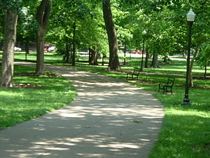 Walking trails in Central Park , located in the Old Louisville ...