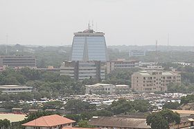 Centre-ville d'Accra, quartier des affaires