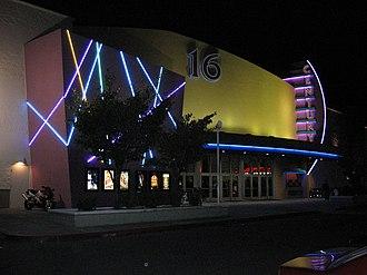 Century Theatres - A Century Theatre multiplex in Portland, Oregon, seen at night