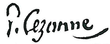 signature de Paul Cézanne