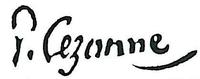 Firma di Paul Cézanne