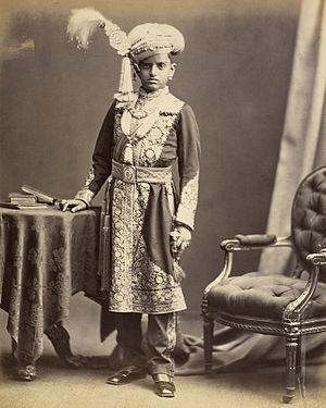 Chamarajendra Wadiyar X - Chamarajendra Wadiyar X of Mysore in 1877