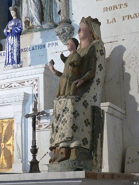 Statue Notre Dame de la consolation
