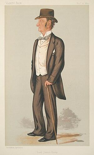 Charles Robert Barry - Lord Justice Barry as depicted by Liborio Prosperi in Vanity Fair, 21 December 1889