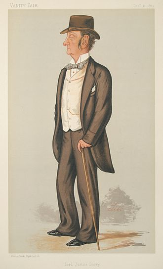 Law Adviser to the Lord Lieutenant of Ireland - Sketch of Charles Robert Barry, Law Adviser 1865-1866