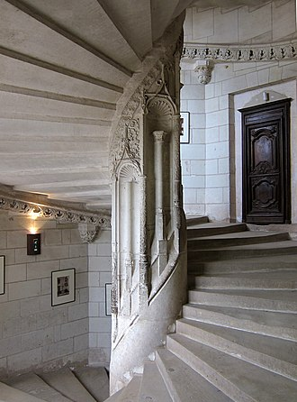 Château de Chaumont - A staircase within the château