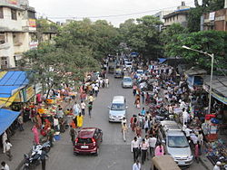 Market near Chembur railway station, Mumbai, India