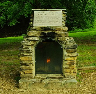 Red Clay State Park - Eternal Flame of the Cherokee Nation