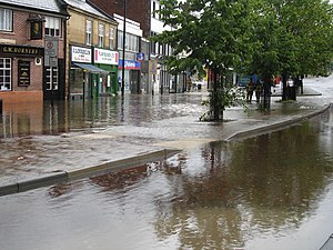 Chester-le-Street - Flooding on Front Street in 2007