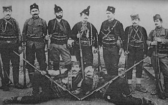 Ilija Trifunović-Birčanin - Birčanin and his band, 1907.