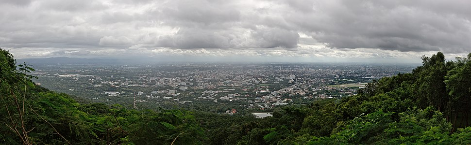 Panorama, Chiang Mai during the rainy season, August 2014