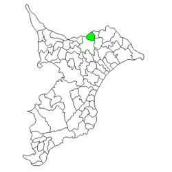 Location of Shimofusa in Chiba Prefecture