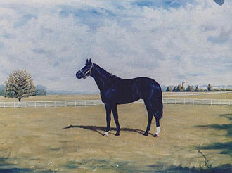 Coventry Stakes - Chief Singer, painted by Bob Demuyser oil on canvas