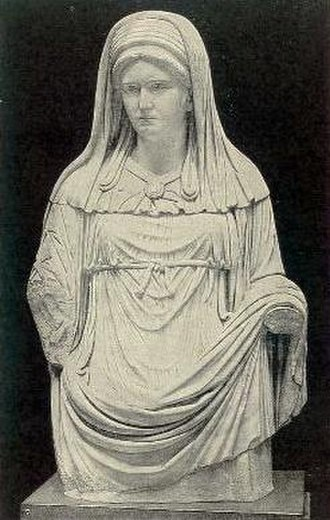 Veil - Roman statue of a veiled Vestal Virgin.