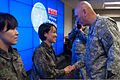 Chief of Staff of the Army Gen. Raymond Odierno, right, presents a coin to a South Korean soldier at a command post in Seongnam, South Korea, Feb. 25, 2014 140225-A-KH856-164.jpg