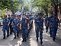 Chief petty officer selectees march through Boston during Chief Petty Officer Heritage Week. (36359817280).jpg