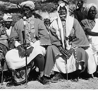 British Somaliland - Sultan Abdurahman Deria (left) of the Habr Awal and Sultan Abdillahi Sultan Deria (right) of the Garhajis subclans of the Isaaq.