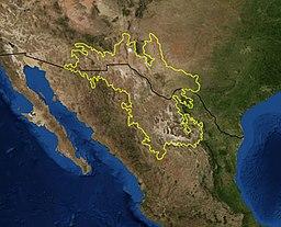 Situo de la dezerto inter Usono kaj Meksiko