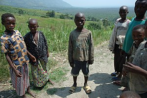 Hutu - Hutu and other Rwandan children in Virunga National Park.