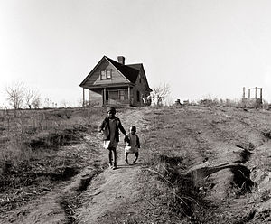 Wadesboro, North Carolina - Children in Wadesboro, 1938.