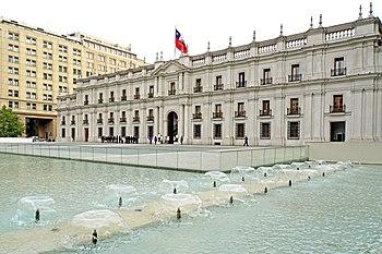 Vista de la fachada norte del Palacio de La Moneda