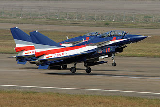 August 1st (aerobatic team) - Image: China airforce J10