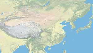 Geography of China - Topographic map of China