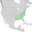 Chionanthus virginicus range map 1.png