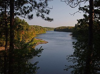Crow Wing State Park - The Mississippi River from Chippewa Lookout in Crow Wing State Park