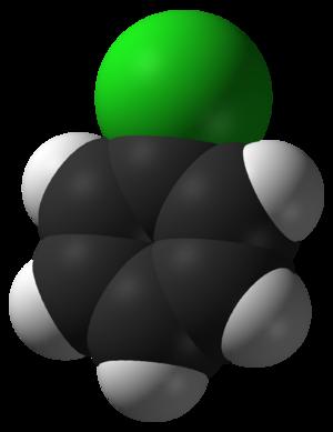 Chlorobenzene - Image: Chlorobenzene 3D vd W