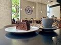Chocolate cake at Jamaica Blue, Riverlink Shopping Centre, North Ipswich, Queensland.jpg