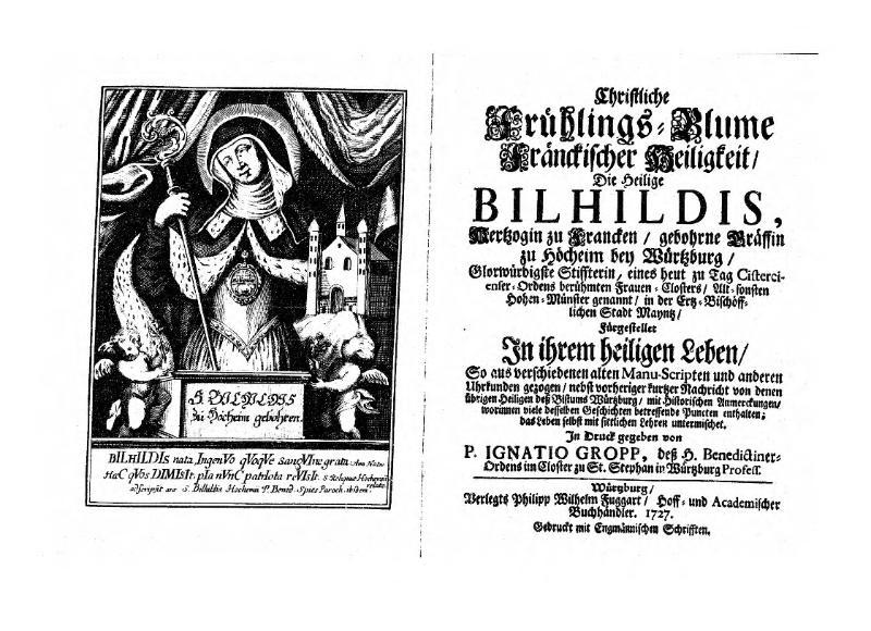 File:Christliche Frühlings-Blume fränckischer Heiligkeit, die heilige Bilhildis.djvu