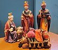 Christmas decoration, the 3 kings that worship the little Jesus, as showed in our PKN church at Oosterbeek - panoramio.jpg