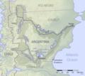 Chubut River Argentina basin map.png
