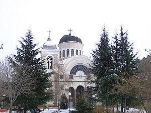 Church of St Nicholas by winter, Yambol, Bulgaria