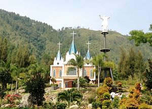 Religion in Indonesia - A Church in Bukit Doa Getsemane Sanggam, Ambarita, Samosir, North Sumatra