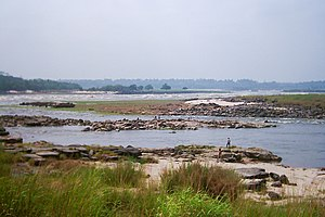 Congo River - The beginning of the Livingstone Falls (Lower Congo Rapids) near Kinshasa
