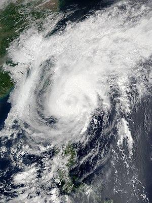 2001 Pacific typhoon season - Image: Cimaron May 13 2001 0220Z