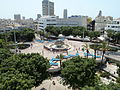 Cinema Hotel Balcony view of Dizengoff Square P1150324.JPG