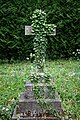 City of London Cemetery ivy covered headstone cross gravestone monument 1.jpg