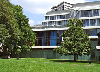City of Westminster College - Paddington Green Campus viewed from St Mary's Gardens