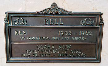 f9c3c77b81 Bow's crypt at Forest Lawn Memorial Park, Glendale. The marker erroneously  states Bow's year of birth as 1907, although she was born in 1905.