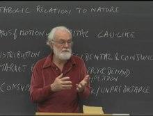 David Harvey lecturing a class