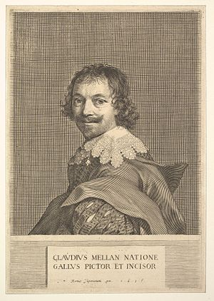 Claude Mellan - Self-portrait, engraving by Claude Mellan (1635), Metropolitan Museum of Art