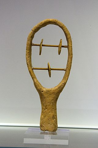 Terracotta sistrum from Arkhanes